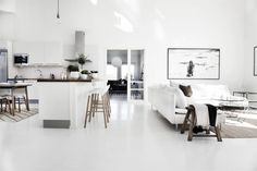 Black and white interior styling (Pella Hedeby – Stilinspiration) Pella Hedeby, Ikea Stockholm, Black And White Interior, Living Spaces, Living Room, Linen Storage, Open Plan Kitchen, Decorating Blogs, Interior Styling
