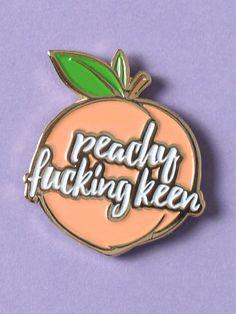 Peachy Keen Enamel Pin - Gypsy Warrior