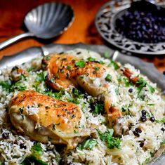 Ottolenghi's Chicken with Caramelized Onion and Cardamom Rice | The View from Great Island
