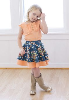 Tilly's Circle Skirt. PDF sewing patterns for girls sizes 2t-12 - Simple Life Company