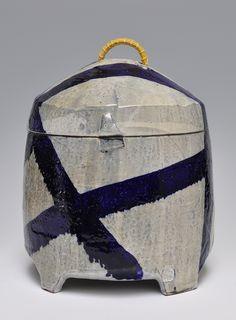 robert brady, larger ceramic lidded jar