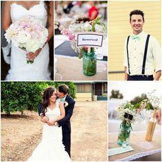 Vintage Wedding Pink Color Theme - Rustic Wedding Chic