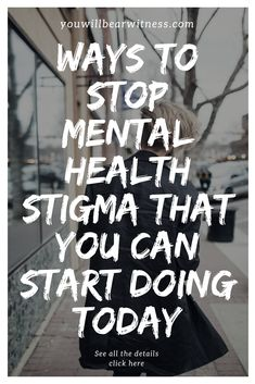 Ways To Stop Mental Health Stigma That You Can Start Doing Today – Fighting for a Future Mental Health Stigma, Mental Health Awareness Month, Mental Health Advocate, Mental Health Conditions, Mental Illness, Health Psychology, Psychology Facts, Coping With Depression, Overcoming Anxiety