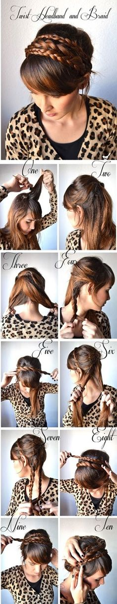 Learn How to Make Twist Hairband and Braid. A DIY