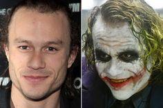 Incredible Movie Makeup Transformations5-Heath Ledger,The Dark Knite