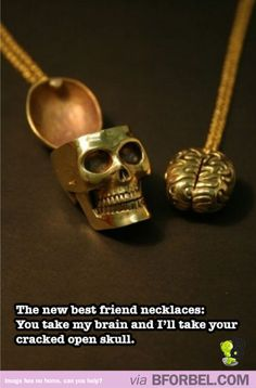 New BFF necklaces are turning to the dark side. this is sooooo sherlock