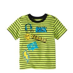 Garanimals Toddler Boy Short Sleeve Stripe Graphic T-shirt