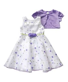 Look at this #zulilyfind! Youngland Lilac Floral Dress & Shrug - Infant, Toddler & Girls by Youngland #zulilyfinds
