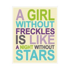 Children's Wall Art / Nursery Decor Girl Without Freckles 16x20 inch print by Finny and Zook