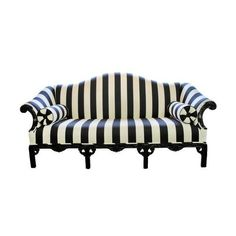 Black And White Striped Sofa   Reminds Me Of Tim Burton