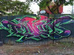 Tenfold by Eclectic Dyslexic, via Flickr Graffiti Wall Art, Graffiti Drawing, Graffiti Painting, Graffiti Alphabet, Graffiti Lettering, Street Art Graffiti, Skull Drawings, Graffiti Designs, Graffiti Styles