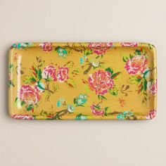 One of my favorite discoveries at WorldMarket.com: Yellow Floral Bath Tray