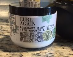 Curl Again Rosemary Mint Hair Growth & Scalp Balm Natural Hair and Scalp Care Products Citrus 6 Month Hair Growth, Hair Growth Oil, Natural Hair Growth, Natural Hair Styles, Healthy Scalp, Healthy Hair, Hair Growth Home Remedies, Hair Scalp, Dry Scalp