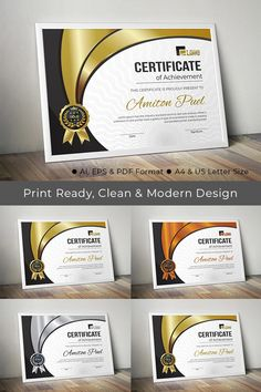 Rank Certificate Template Certificate Of Achievement Template, Certificate Design, Certificate Templates, Certificate Of Appreciation, Canvas Quotes, Graphic Design Trends, Letter Size, Print Design, Lettering