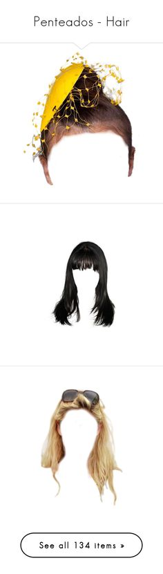 """""""Penteados - Hair"""" by rafakeka on Polyvore featuring hair, dolls, wigs, beauty products, haircare, hair styling tools, doll hair, blonde hair, cabelo e hairstyles"""