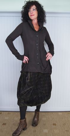 Rundholz Black Label Aston Skirt and Cleco Jacket with Gidigio Victoria Boot