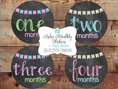 Baby Monthly Sticker,Baby Age Stickers,Baby Month Stickers,Baby Month Milestone Stickers,Baby Monthly Stickers,Monthly Baby Stickers,Chalk on Etsy, $12.50