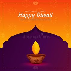 Ethnic Religious Diwali Festival Background With Diya Lamp Stock Vector - Illustration of greeting, celebration: 102080257