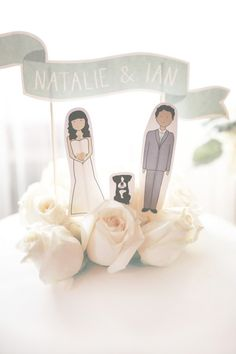 Characterture Wedding #CakeTopper I Chloe Moore Photography
