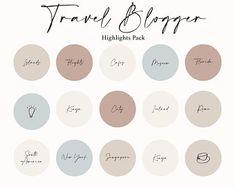 Travel Instagram Story Highlight Covers Travel Blogger Icons | Etsy Instagram Feed, Instagram Story, Insta Bio, Insta Story, Ig Story, Travel Icon, Instagram Highlight Icons, Story Highlights, Earth Tones