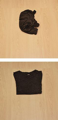 die besten 25 t shirt zusammenlegen ideen auf pinterest. Black Bedroom Furniture Sets. Home Design Ideas