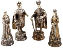 A Truly Magnificent, Sterling Silver Chess Set
