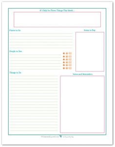 Weekly planner printables are a great addition to a personal planner, command center, or as a way to keep track of all the things you need to do each week. To Do Planner, Free Planner, Blog Planner, Planner Pages, Project Life Planner, Goals Planner, Planner Ideas, Weekly Planner Printable, Planner Template