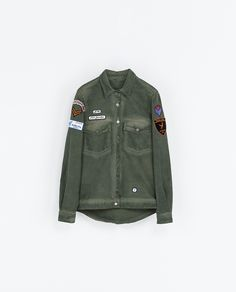 OVERSHIRT WITH PATCHES - Shirts - Woman | ZARA United States