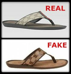 How to Spot Fake Gucci Sandals