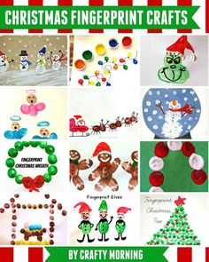 Christmas & Winter Fingerprint Craft Ideas For Kids | Fingerprint ...