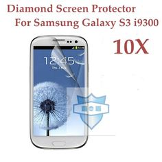 For samsung galaxy s3 silver diamond for samsung galaxy S3 Screen Protector For Samsung i9300 LCD CellPhone Protective Film