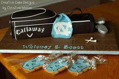 Golf Grooms Cake | Golf Bag Groom's Cake by Creative Cake Designs ... | Grooms Cake Insp ...
