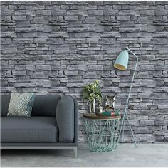 Waterproof Faux Stone Wall Stickers Collection - ZW10 / 45cmX600cm