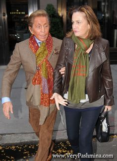 #ValentinoGaravani Wears A Colorful Patchwork #Scarf To Lunch