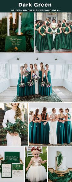 country green bridesmaid dresses, cheap long bridesmaid dresses, wedding party dresses for bridesmaids #dressywomen #bridesmaids #weddingideas