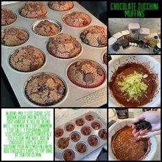 Chocolate zucchini muffins Chocolate Zucchini Muffins, Hershey Cocoa, Allrecipes, Love Food, Brown Sugar, Baking Soda, Cinnamon, Breakfast, Canela