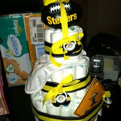 steelers diaper cake