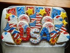 Fourth of July Cookie Platter from Creative Cookies