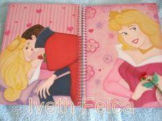 Caderno de recordações - Tema bela adormecida.
