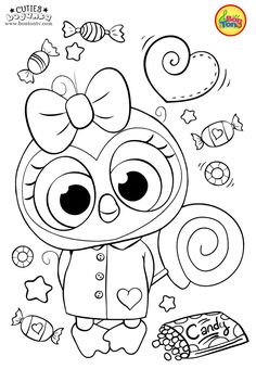 Cuties Coloring Pages for Kids – Free Preschool Printables – Slatkice Bojanke – Cute Animal Coloring Books by BonTon TV Free Kids Coloring Pages, Coloring Pages For Teenagers, Owl Coloring Pages, Coloring Sheets For Kids, Printable Coloring, Coloring Books, Free Preschool, Preschool Printables, Poppy Coloring Page