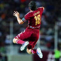Juan Arango. Futbol (soccer) player from Venezuela. Team Vino Tinto. The best Penalty shooter in the world.