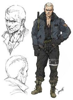 Inside the Artwork: An Interview With Yoji Shinkawa Character Concept, Character Art, Concept Art, Nail Bat, Mode Cyberpunk, Cyberpunk Character, Sci Fi Characters, Metal Gear, Dieselpunk