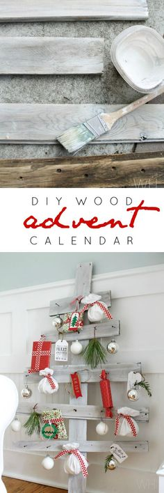This would be cute just as a decoration with mini ornaments. Countdown to Christmas with this adorable DIY Wood Advent Calendar! The Night Before Christmas, Merry Little Christmas, Christmas Crafts For Kids, Christmas Printables, Homemade Christmas, All Things Christmas, Christmas Holidays, Christmas Ideas, Scandinavian Christmas