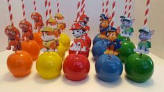 Paw Patrol Candy Apples