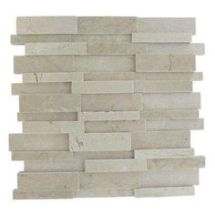 Dimension 3D Brick Crema Marfil Pattern 12 in. x 12 in. x 8 mm Mosaic Floor and Wall Tile