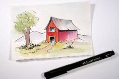 Pen and Ink and Watercolor.....The Rita's Art Blog: Tuesday's Tips and Techniques for Watercolor Painting