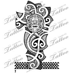 Marketplace Tattoo Polynesian Style Shoulder 1/2 Sleeve #5929 | CreateMyTattoo.com