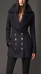 Women's London Coats | Burberry  I love the shawl collar.