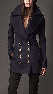 Women's London Coats | Burberry I love the shawl collar.