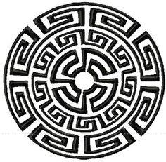 Slunce (řecký ornament) - sáček z manšestru   Lavennis